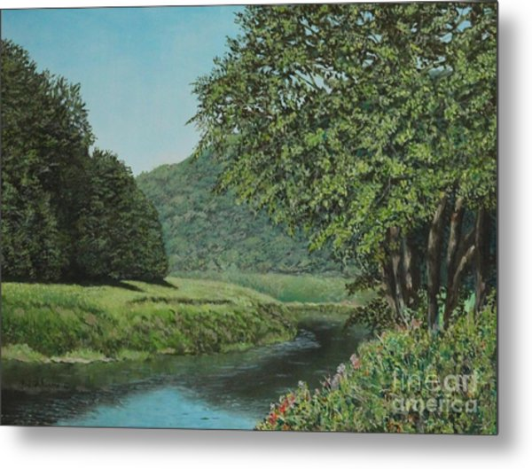 The Wye River Of Wales Metal Print