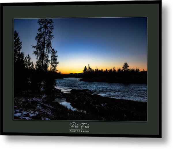 Metal Print featuring the photograph The Yellowstone River by Pete Federico