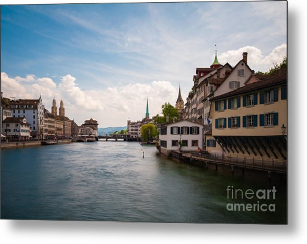The Zurich Cityscape. Switzerland Metal Print