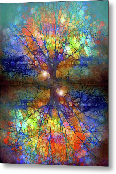 There Is Light Even In These Dark Roots Metal Print
