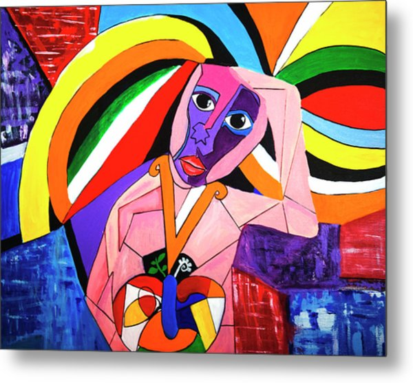 Thinking Of Peace Metal Print