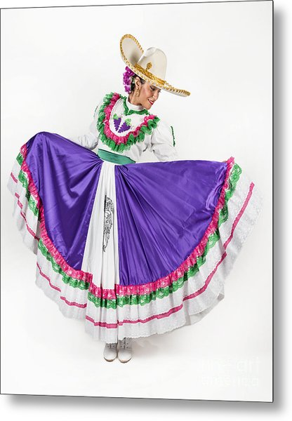 This Charming Dancer Is Wearing A Metal Print