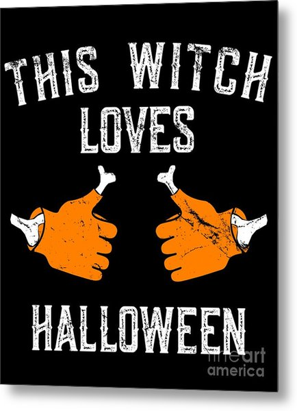 This Witch Loves Halloween Metal Print
