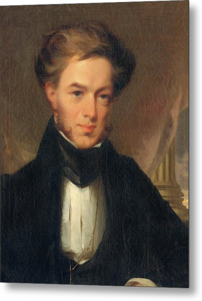 Portrait Of Thomas Ustick Walter, 1835 Metal Print