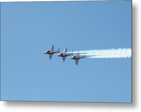 Three Canadian Snowbird Fighters Metal Print