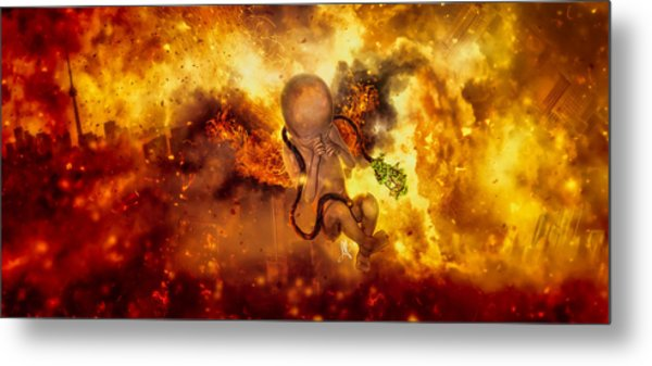 Through Ashes Rise II Metal Print
