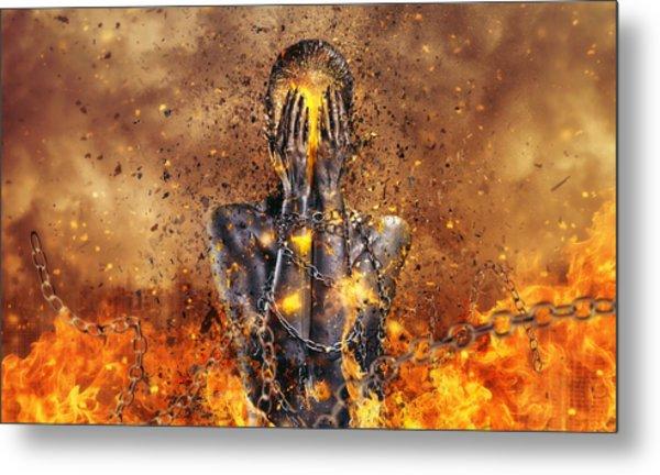 Through Ashes Rise Metal Print