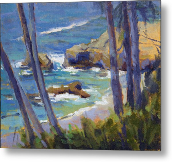 Metal Print featuring the painting Through The Trees by Konnie Kim