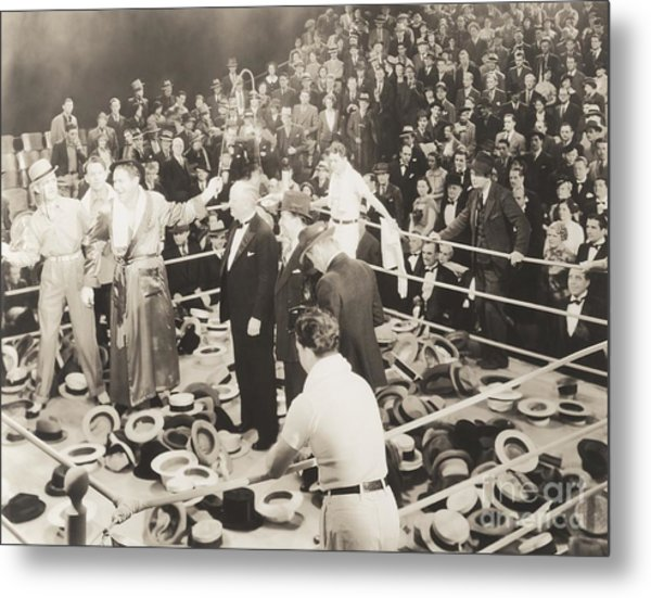 Throwing Their Hats Into The Ring Metal Print