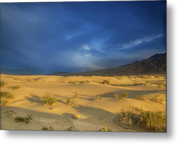 Thunder Over The Desert Metal Print