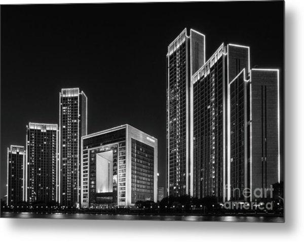 Tianjin Skyline Metal Print