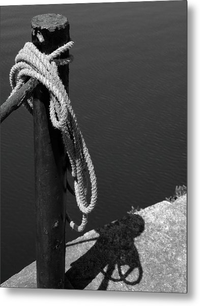 Metal Print featuring the photograph Tied, Rope by Edward Lee