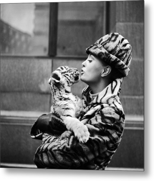 Tiger Lady Metal Print by Central Press