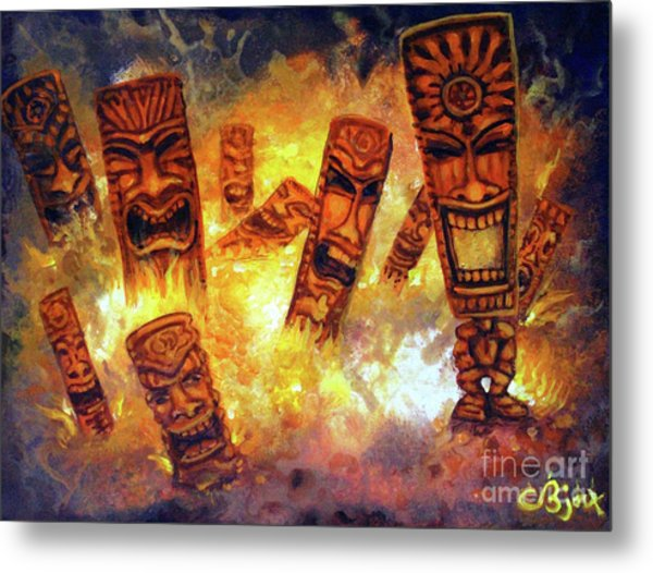 Tiki Hot Spot Metal Print