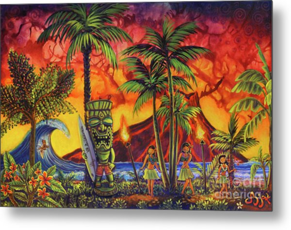 Tiki Surf A Lot Metal Print