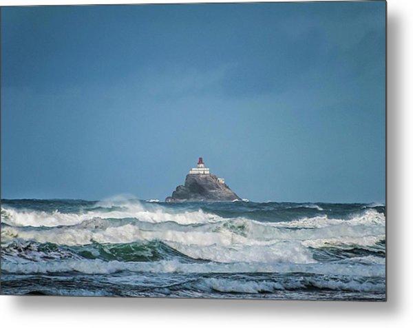 Tillamook Rock Lighthouse Near Cannon Beach Metal Print