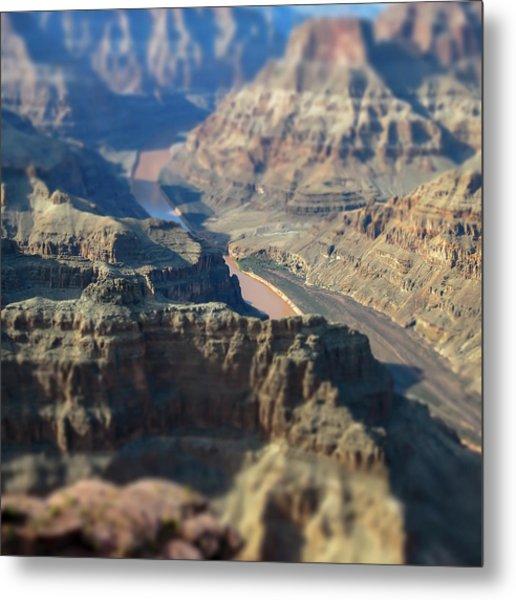 Tiltshifted Grand Canyon Metal Print