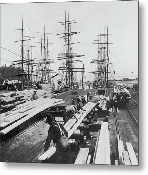 Timber In Tacoma, Washington Metal Print by Archive Photos