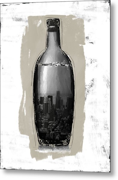 Time In A Bottle 2- Art By Linda Woods Metal Print