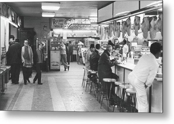 Times Square Arcade, 1964 Metal Print by Fred W. McDarrah