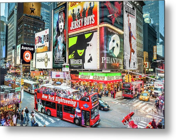 Times Square II Special Edition Metal Print