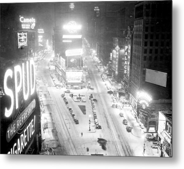 Times Square Is Covered In A White Metal Print