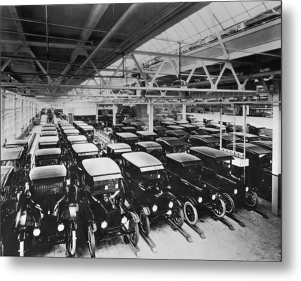 Tin Lizzy Factory Metal Print by Hulton Archive