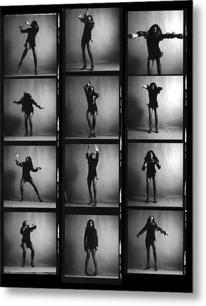 Tina Turner Contact Sheet Metal Print