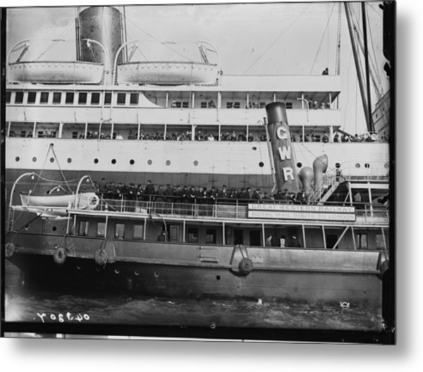 Titanic Survivors Metal Print by Topical Press Agency