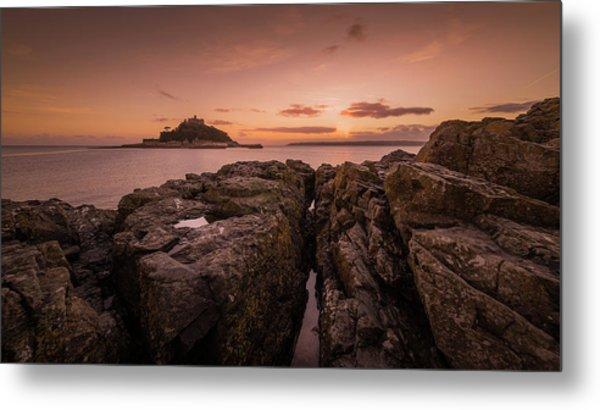 To The Sunset - Marazion Cornwall Metal Print