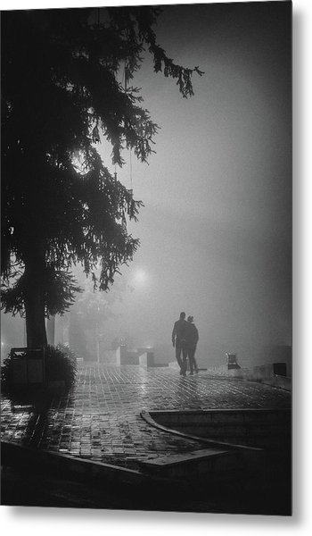 Together In Fog, Sa Pa, 2014 Metal Print by Hitendra SINKAR