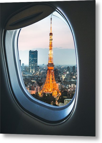 Tokyo Skyline With The Tokyo Tower Metal Print by Franckreporter