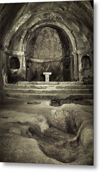 Tomb And Altar In The Monastery Of San Pedro De Rocas Metal Print