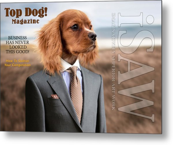 Metal Print featuring the digital art Top Dog Magazine by ISAW Company