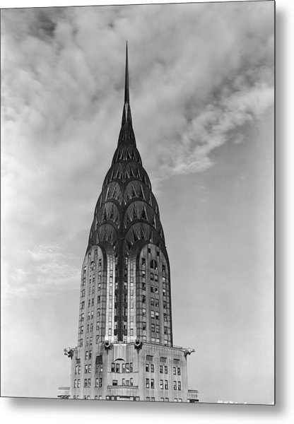 Top Of The Chrysler Building Metal Print by Frederic Lewis