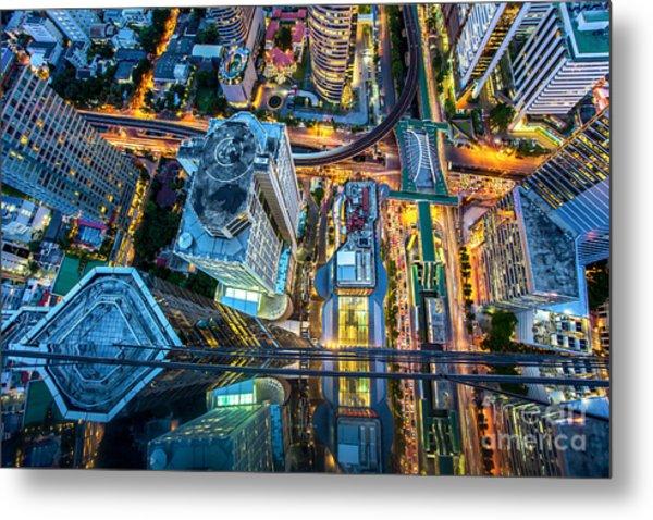 Top View Of Bangkok , Thailand Metal Print