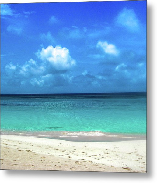 Topical Beach View Anguilla Metal Print
