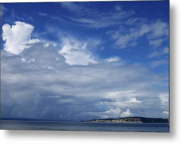 Towering Over Double Bluff Metal Print by Tom Trimbath