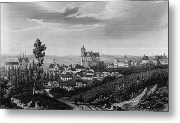 Town Of Le Mans Metal Print by Hulton Archive