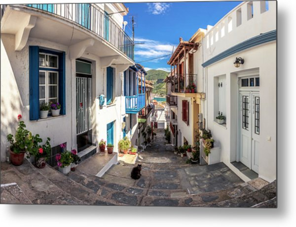 Town Of Skopelos Metal Print