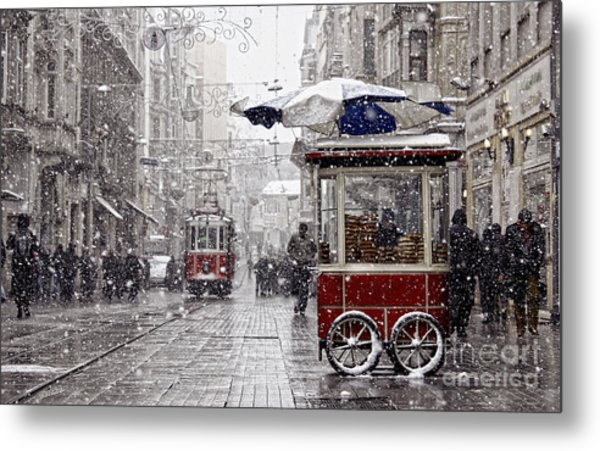 Traditional Fast Food Of Istanbul On Metal Print
