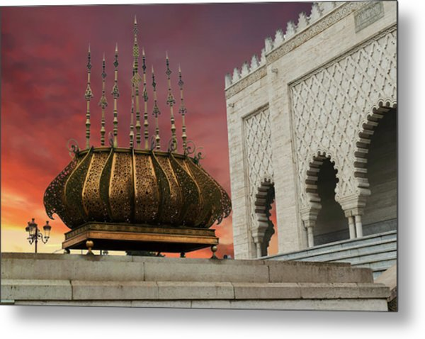 Traditional Outdoor Lighting Urn, Mausoleum Metal Print