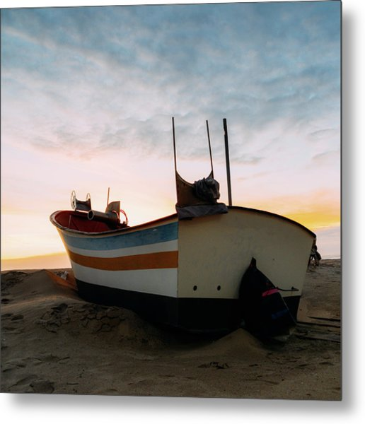 Traditional Wooden Fishing Boat Metal Print