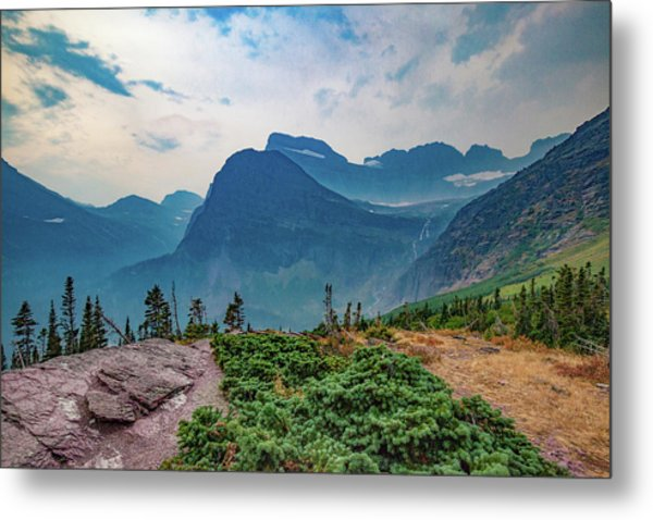 Metal Print featuring the photograph Trail To Grinnell Glacier by Lon Dittrick