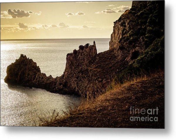 Tranquil Mediterranean Sunset    Metal Print