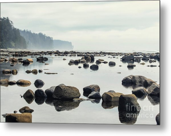 Tranquil Sea Water Surface Landscape Metal Print