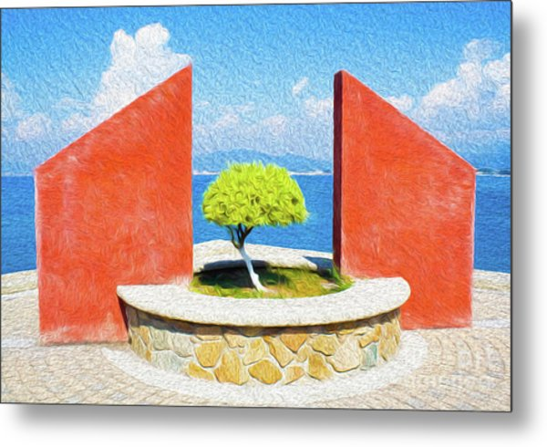 Metal Print featuring the digital art Tranquil Surroundings by Kenneth Montgomery