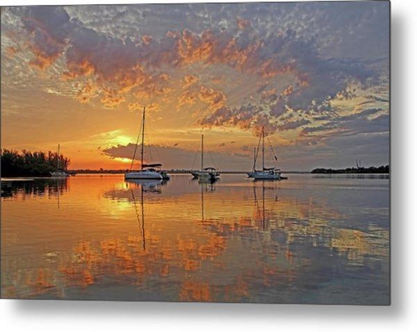 Tranquility Bay - Florida Sunrise Metal Print