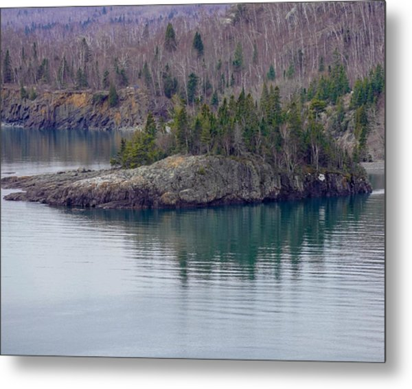 Tranquility In Silver Bay Metal Print