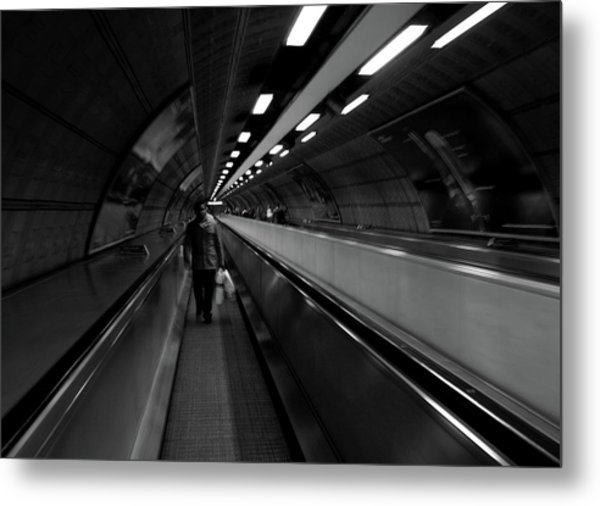 Metal Print featuring the photograph Travelator  by Edward Lee